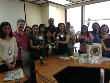 Peace Corps Philippines Staff with Solar Lights