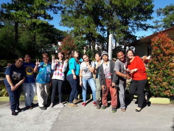 Wacky shot with our friends at Maryknoll
