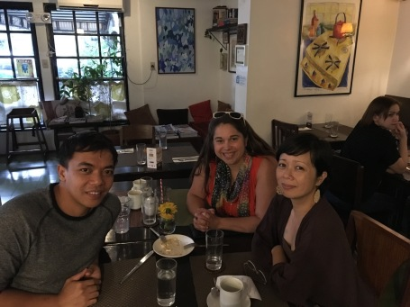 Great lunch in Manila with Efren and Padma wonderful friends and supporters of our work!