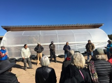 Pueblo Managers of the Seed Bank Lead a Tour