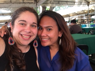 Great lunch meeting with Cherrie of Agrea at the Salcedo Saturday Market in Makati.