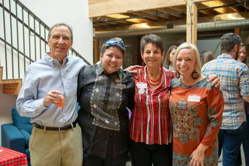 L-R: Bill McDorman, Karen Lee Hizola, Belle Starr, Heather DeLong at Nourish.