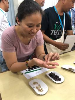 Workshop participant during the Seed ID Activity